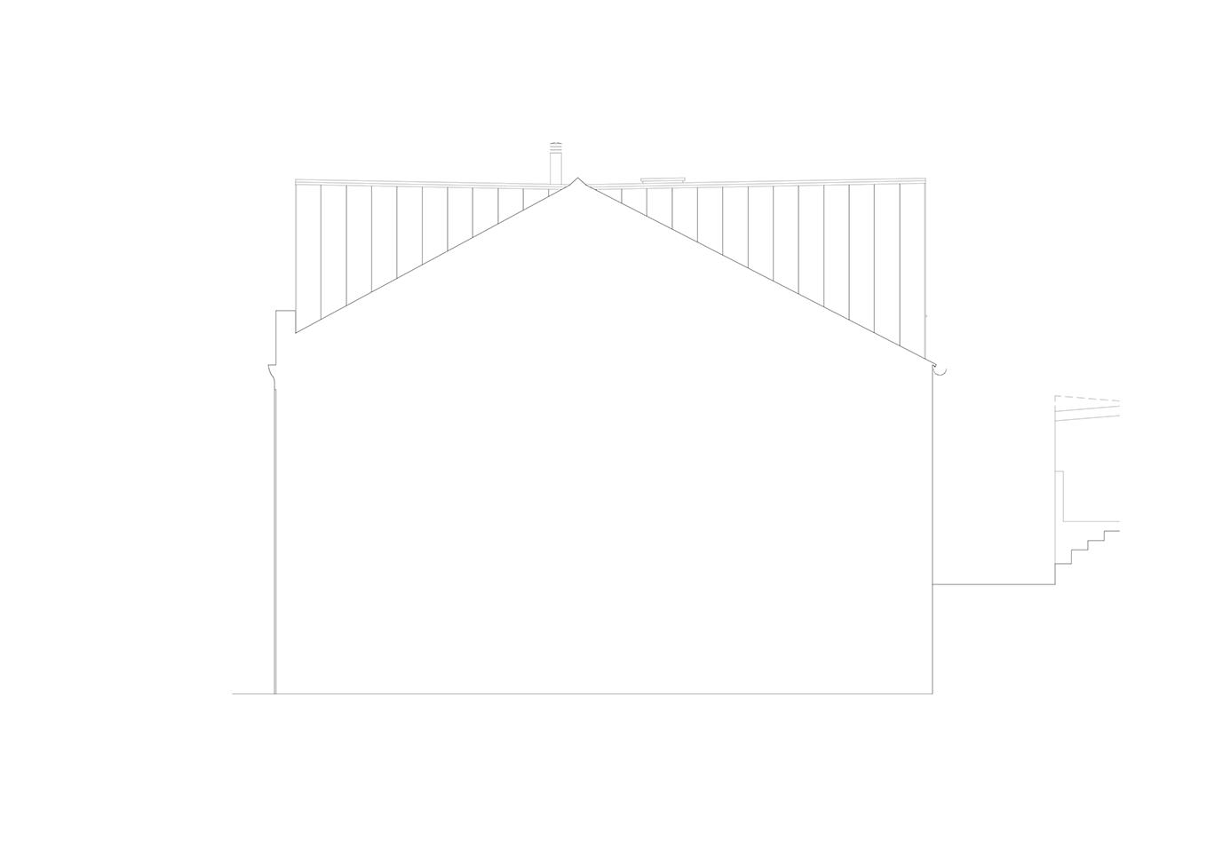 Alçado Lateral (Empenas) — Esc. 1/150